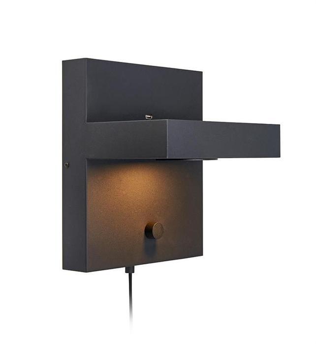 Настенный светильник Markslojd 107065, черный светильник markslojd kubik ml 107065