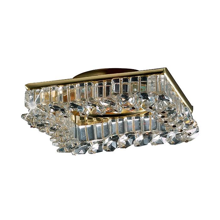 Встраиваемый светильник Novotech 369439, золотой встраиваемый светильник novotech bob 369439