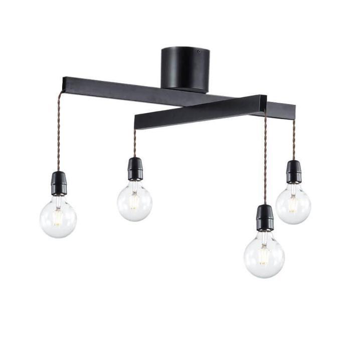 цена на Потолочный светильник Vele Luce VL1332L04, черный