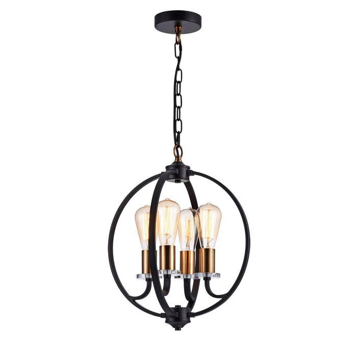 цена на Подвесной светильник Vele Luce VL1492L04, черный