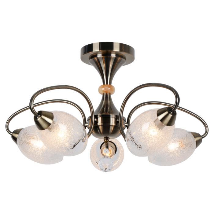 Потолочный светильник Lussole LSP-8073, бронза люстра на штанге lussole lgo lsp 8073