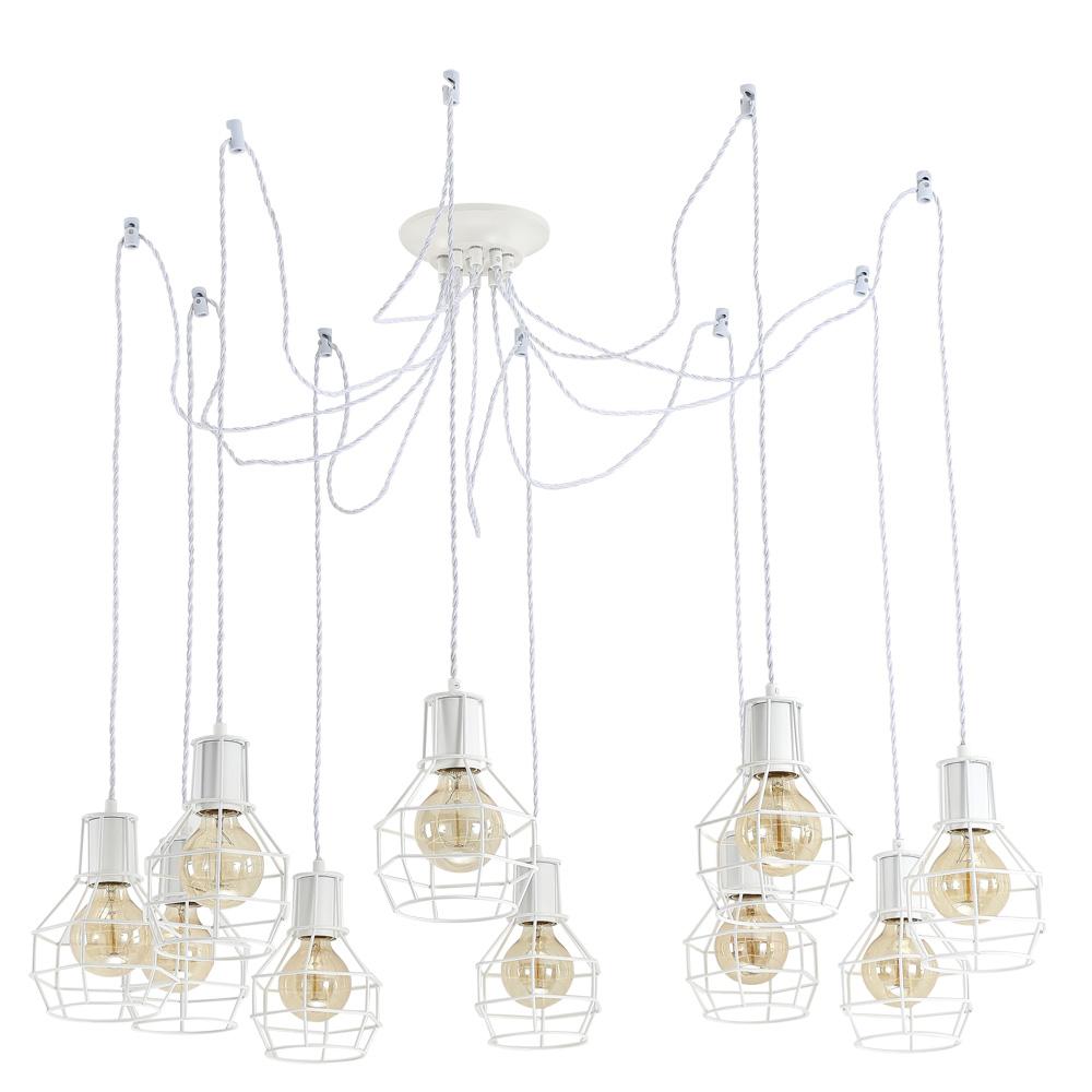 Подвесной светильник Arte Lamp A9182SP-10WH, белыйA9182SP-10WHПодвесной светильник Arte Lamp A9182SP-10WH серии Interno в техническом стиле подчеркнет стиль помещения. Размеры (ДхШхВ) 850х850х220 мм.