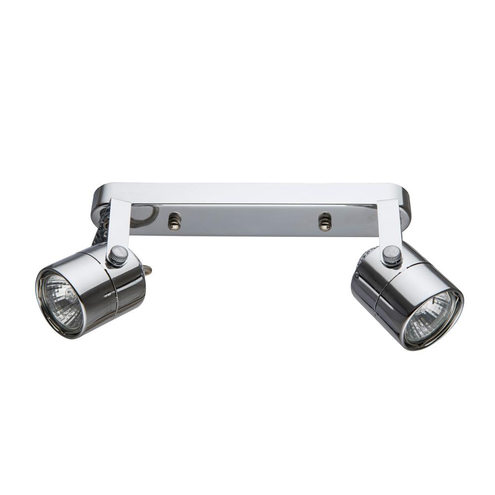 Настенно-потолочный светильник Arte Lamp A1310PL-2CC, серый металликA1310PL-2CCСпот с двумя плафонами Arte Lamp A1310PL-2CC серии Lente в современном стиле создаст в помещении атмосферу комфорта. Размеры (ДхШхВ) 260х60х150 мм.