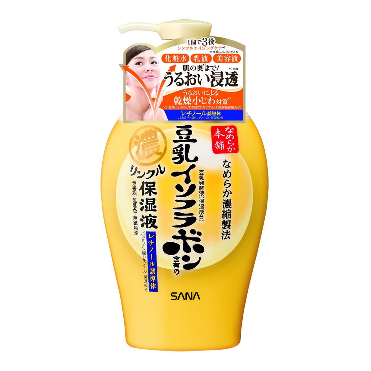 Молочко косметическое SANA / Молочко увлажняющее и подтягивающее с ретинолом и изофлавонами сои, 230 мл, арт.  413346 Sana
