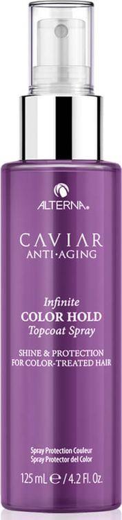 Ламинирующий спрей-глянец для окрашенных волос с комплексом фиксации цвета Caviar Anti-Aging Infinite Color Hold Topcoat Spray, 125 мл alterna масло для волос bamboo smooth kendi pure treatment 50ml