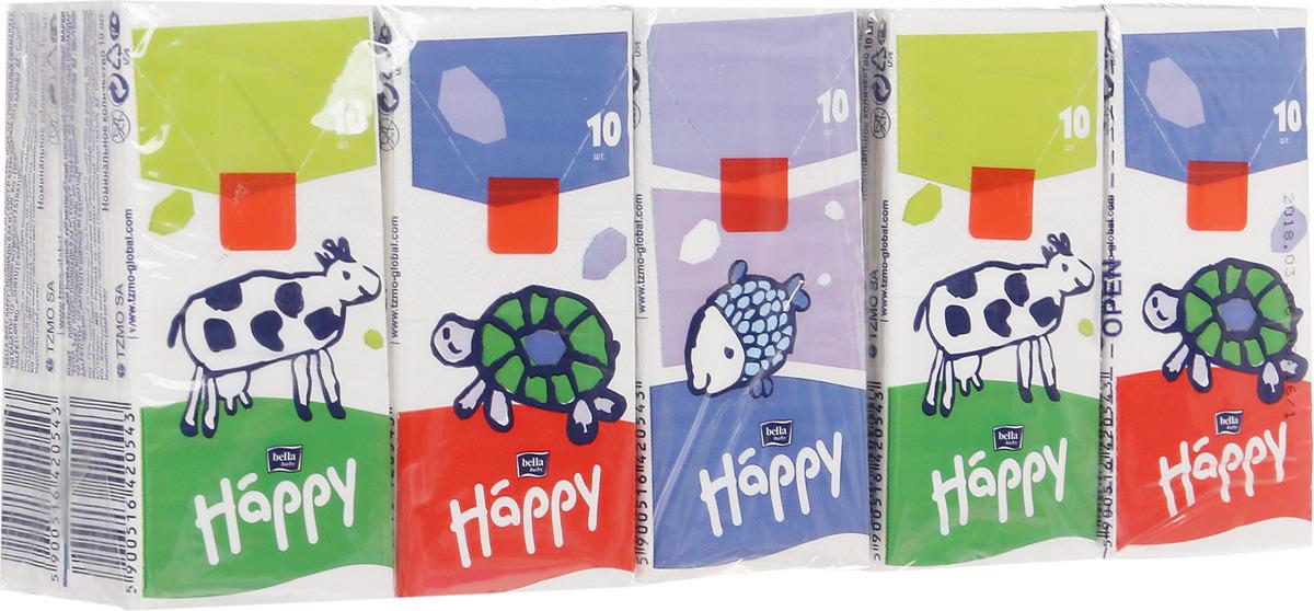 цены на Bella Носовые платочки детские трехслойные Звери 10 шт  в интернет-магазинах
