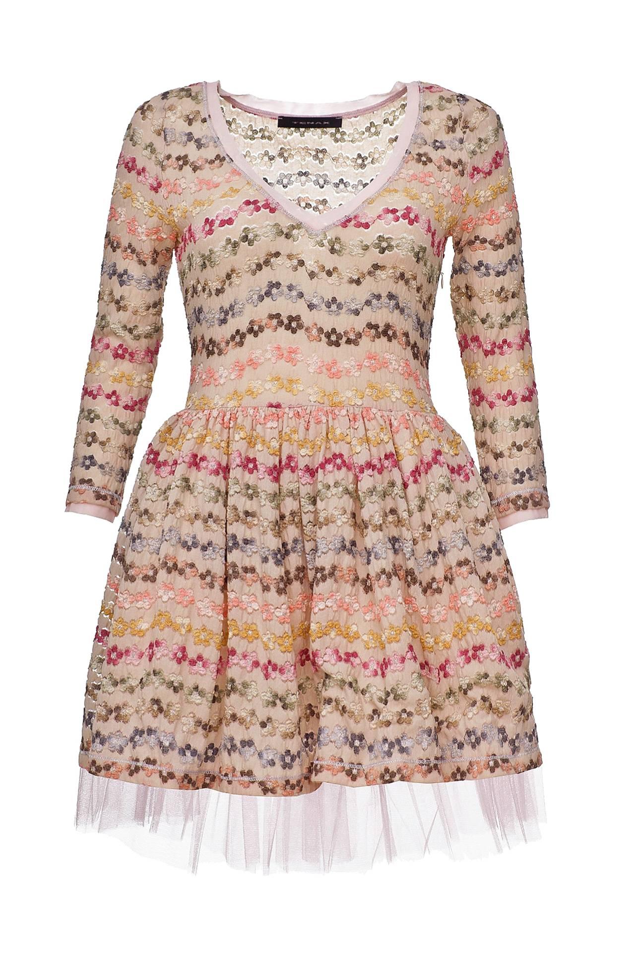 Платье TENAX платье футляр с оборкой из сетки red valentino