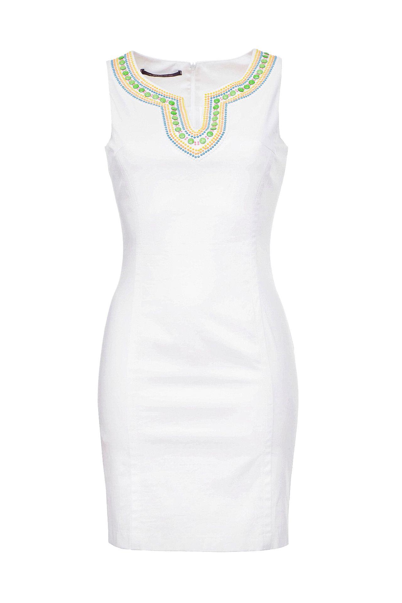 Платье TENAX пуловер кашемировый v образный вырез логотип freeman сзади