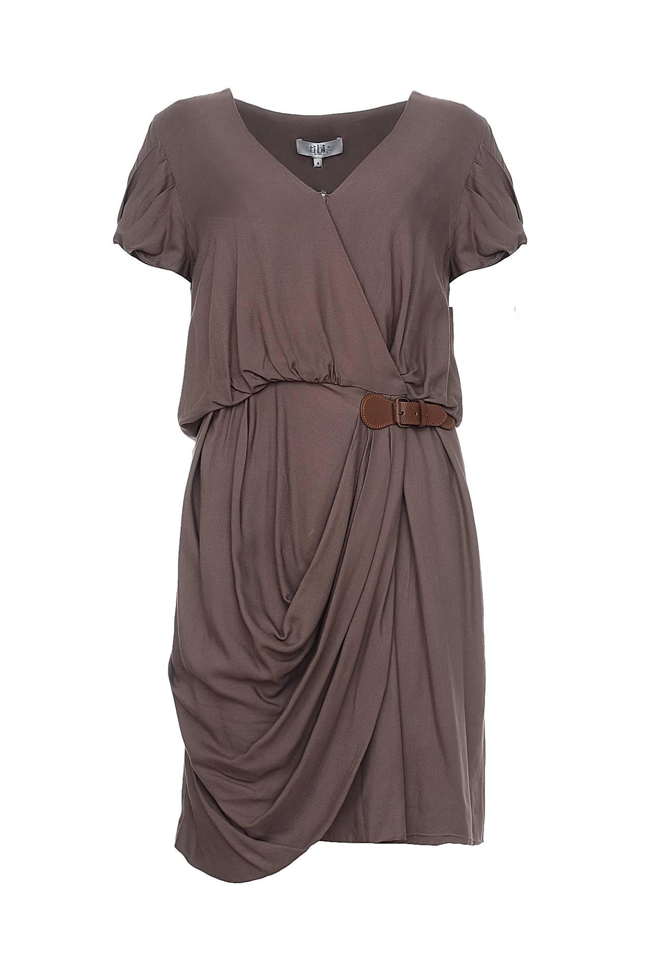 Платье tibi белый короткий рукав v шея sweep поезд русалка fishtail свадебное платье