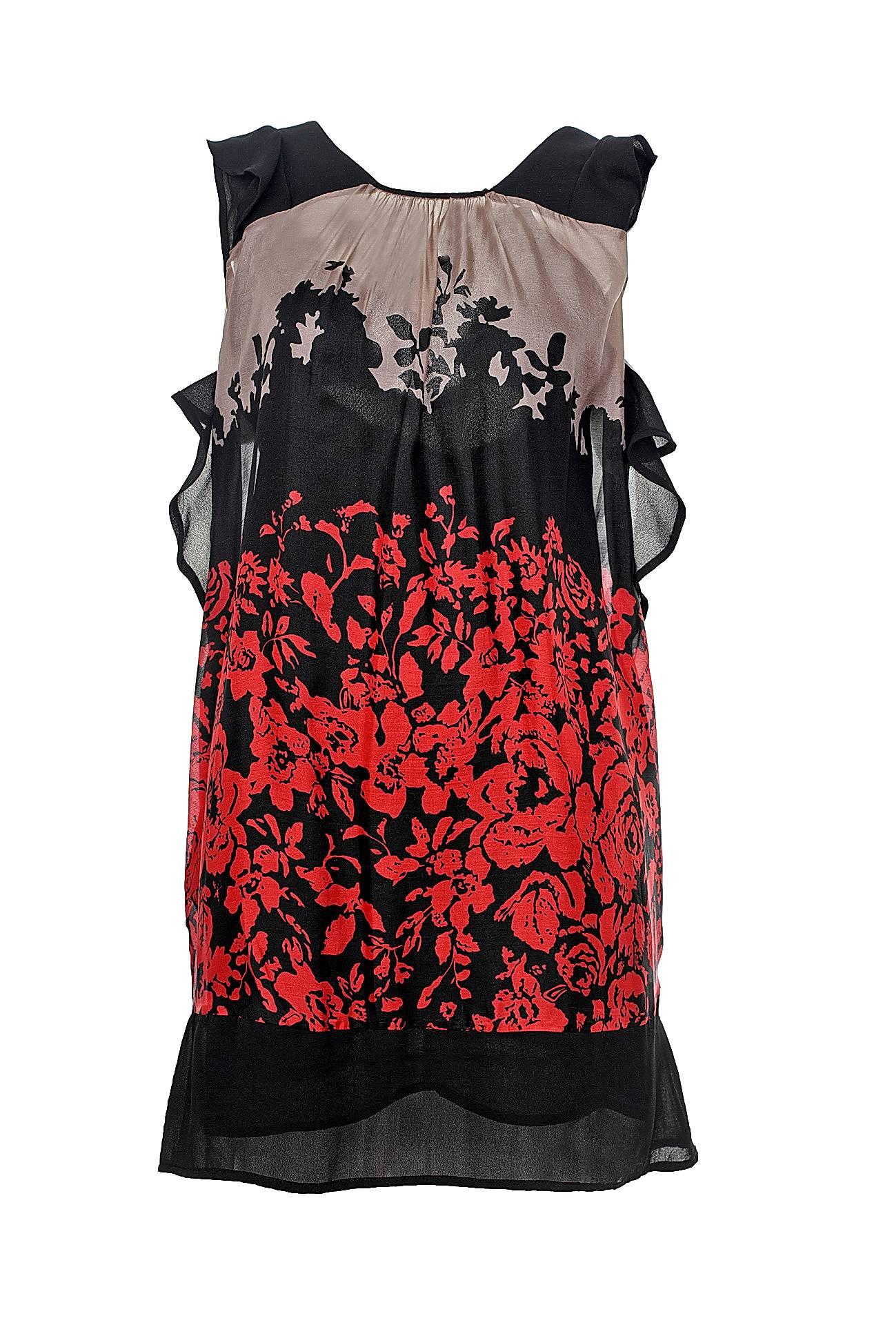 Платье TWIN-SET летнее платье с v образным вырезом galliano