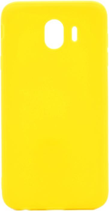 Чехол для сотового телефона GOSSO CASES для Samsung Galaxy J4 (2018) Soft Touch yellow, желтый