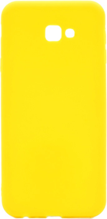 Чехол для сотового телефона GOSSO CASES для Samsung Galaxy J4+ Soft Touch yellow, желтый
