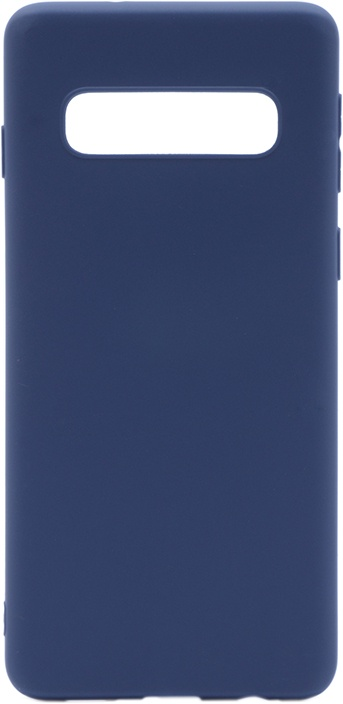 Чехол для сотового телефона GOSSO CASES для Samsung Galaxy S10 Soft Touch dark blue, темно-синий