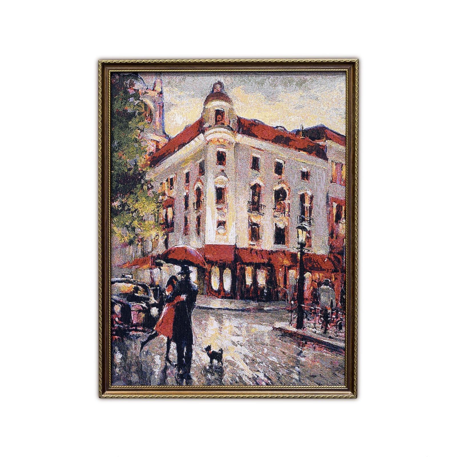 Картина Магазин гобеленов под дождем 52*69 см, Гобелен