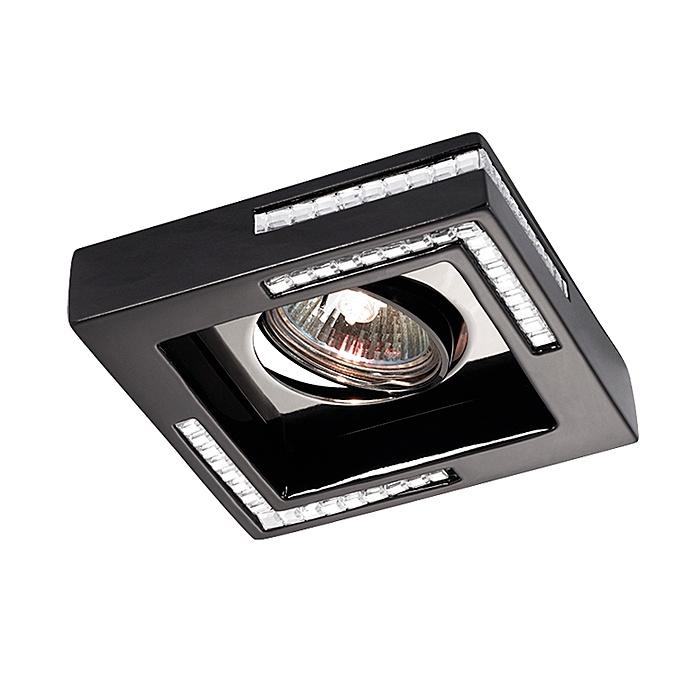 Встраиваемый светильник Novotech 369844, черный novotech fable 369844 black