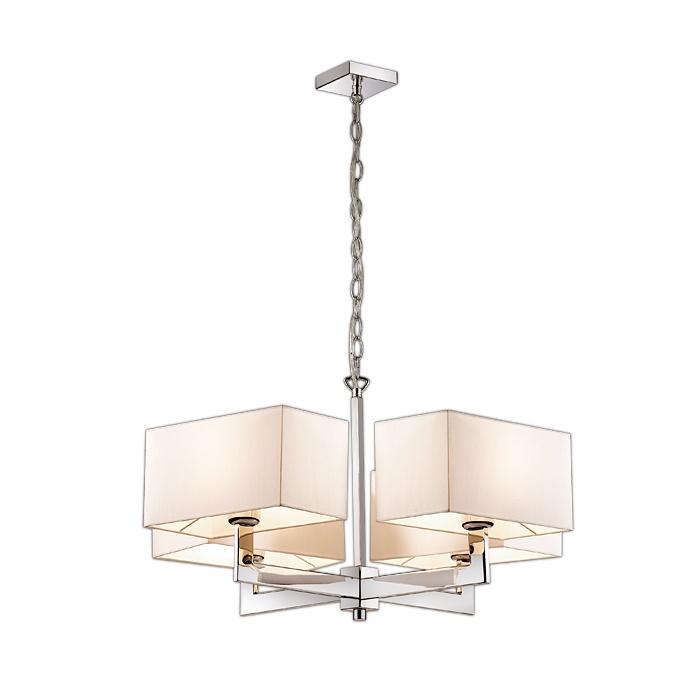 Подвесной светильник Odeon Light 2421/4, серый металлик2421/4Подвесная люстра Odeon Light 2421/4 серии Norte в современном стиле хорошо впишется в любой интерьер. Размеры (Диаметр х Высота) 740х720 мм.