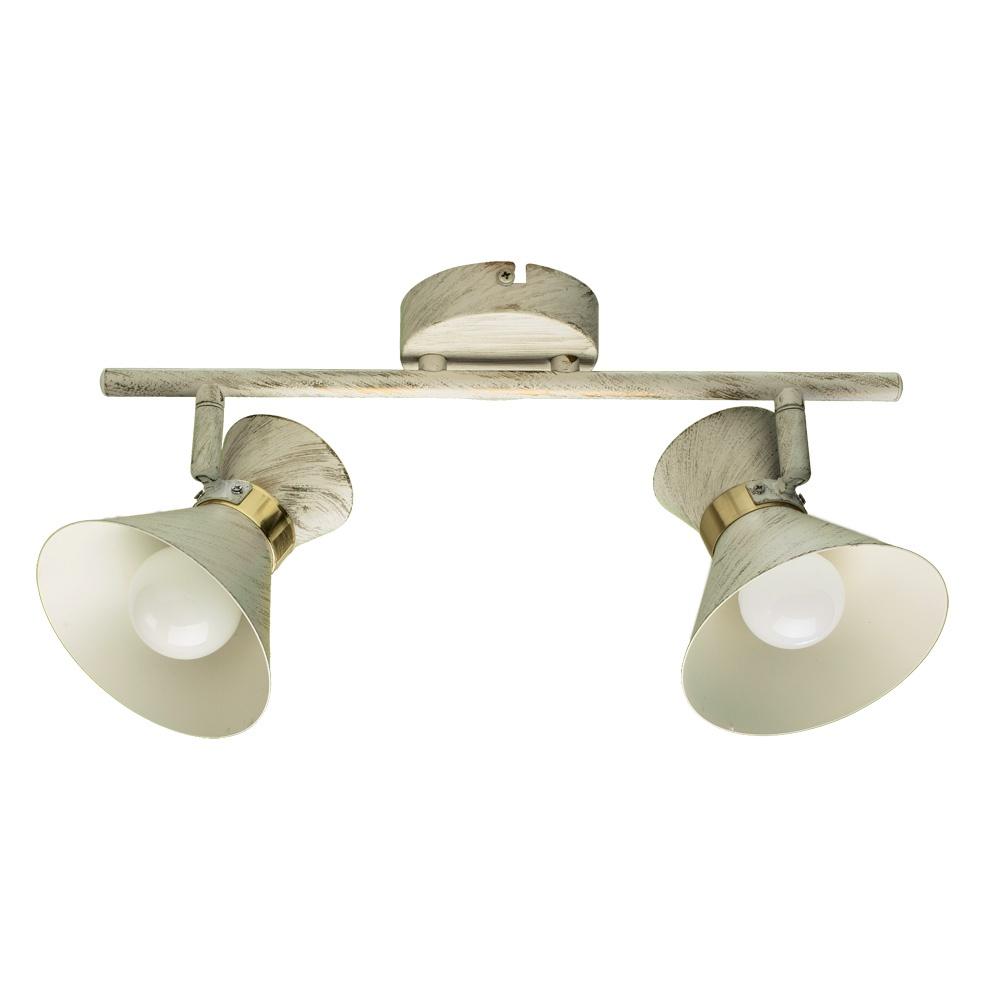 Настенно-потолочный светильник Arte Lamp A1406AP-2WG, золотой спот arte lamp a1406ap 2wg