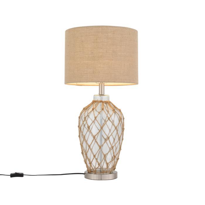 Настольный светильник St Luce SL971.524.01, коричневый лампа настольная декоративная st luce кsl971 524 01 хром прозрачный коричневый бежевый
