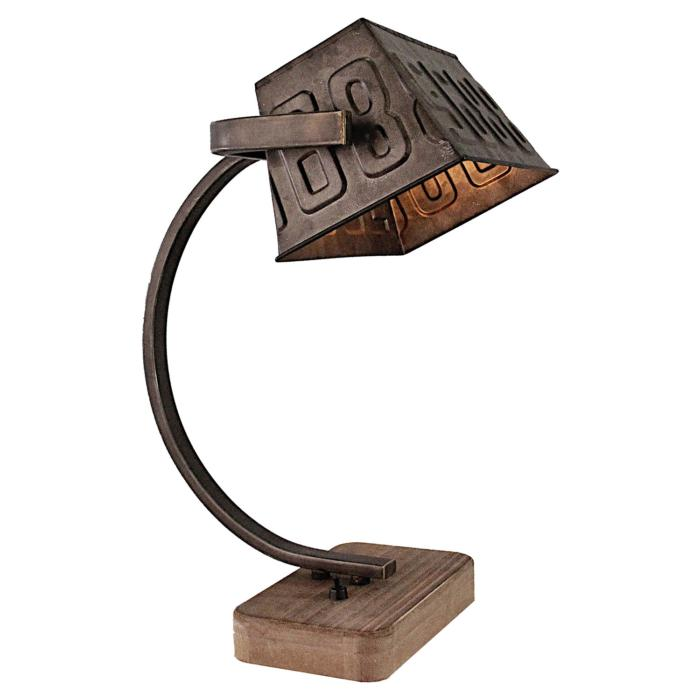 Настольный светильник Lussole LSP-0511, коричневый настольный светильник lussole lsp 0548
