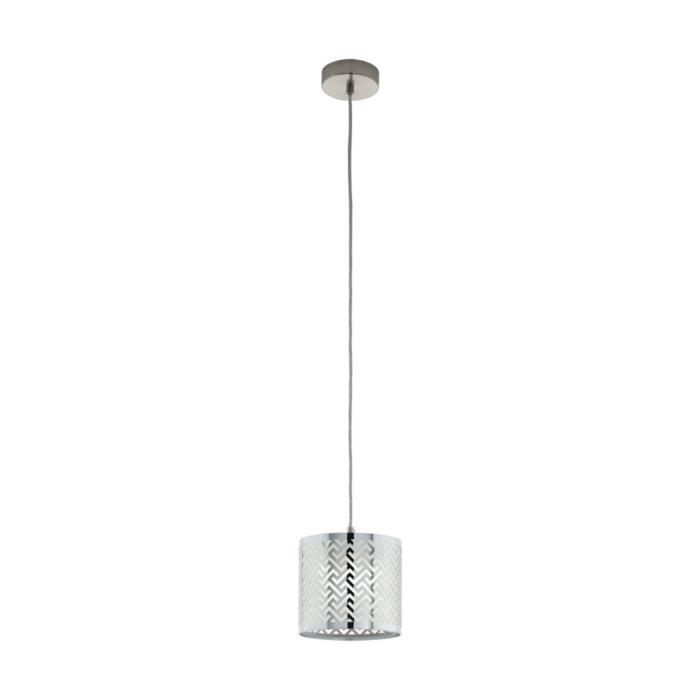 Подвесной светильник Eglo 49164, серый металлик светильник подвесной eglo 92888