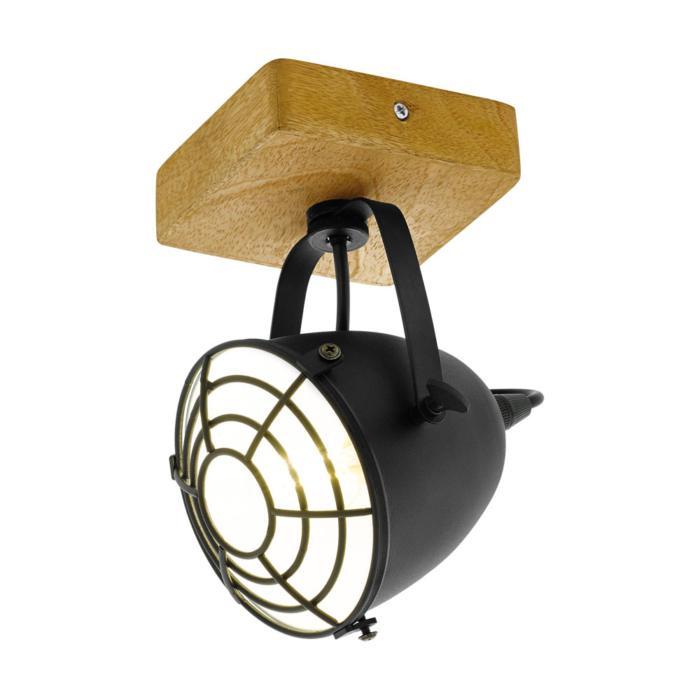 Настенно-потолочный светильник Eglo 49076, коричневый светильник спот eglo dakar 87082