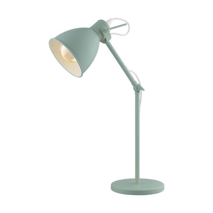 Настольный светильник Eglo 49097, зеленый настольная лампа офисная eglo plano led 95829