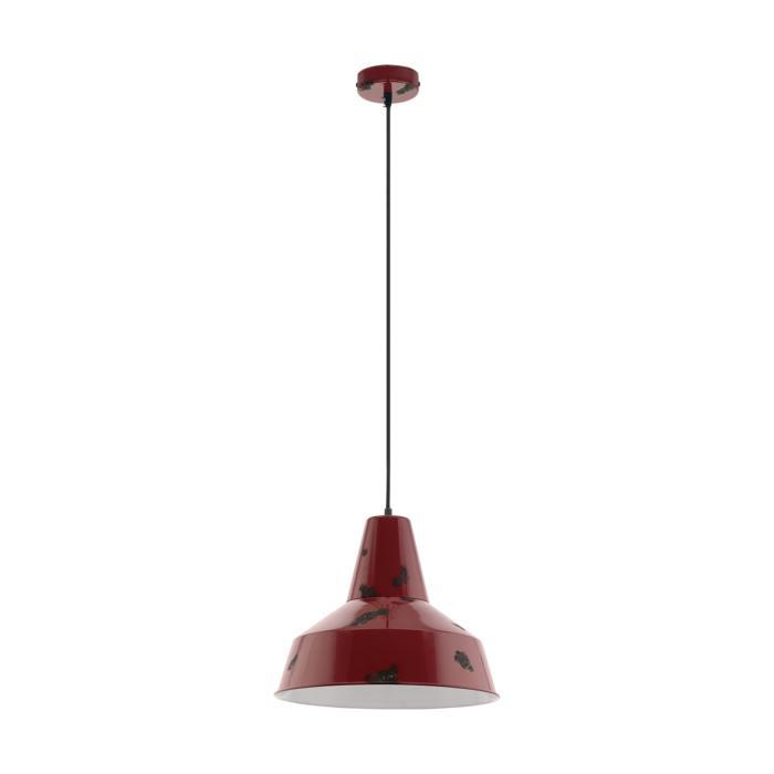 Подвесной светильник Eglo 49748, красный светильник подвесной eglo somerton 49387