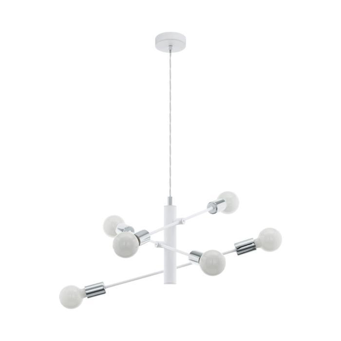 Подвесной светильник Eglo 98016, серый металлик цена