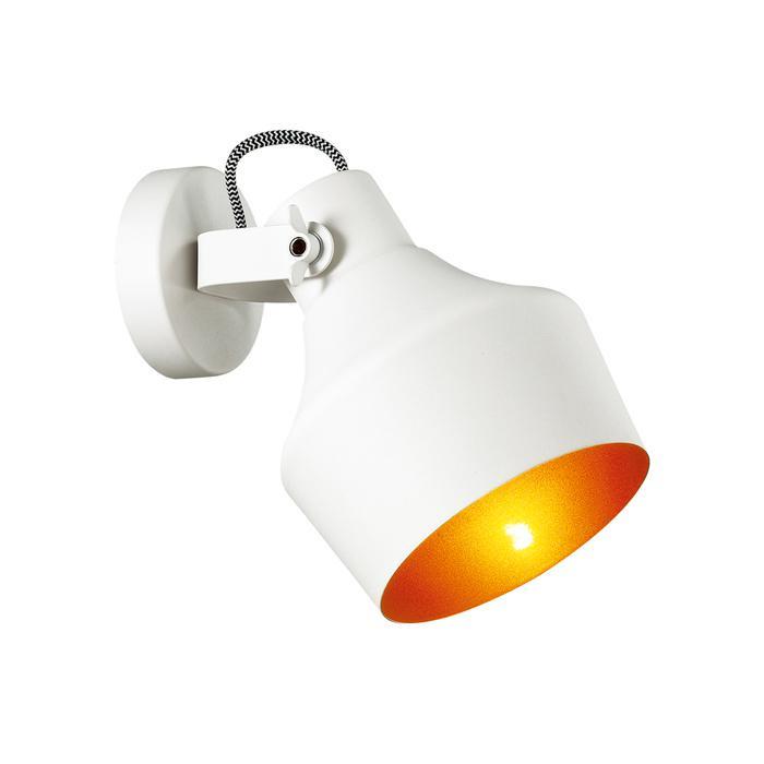 Настенно-потолочный светильник Odeon Light 4084/1W, белый настенно потолочный светильник odeon light 3628 1w серый металлик