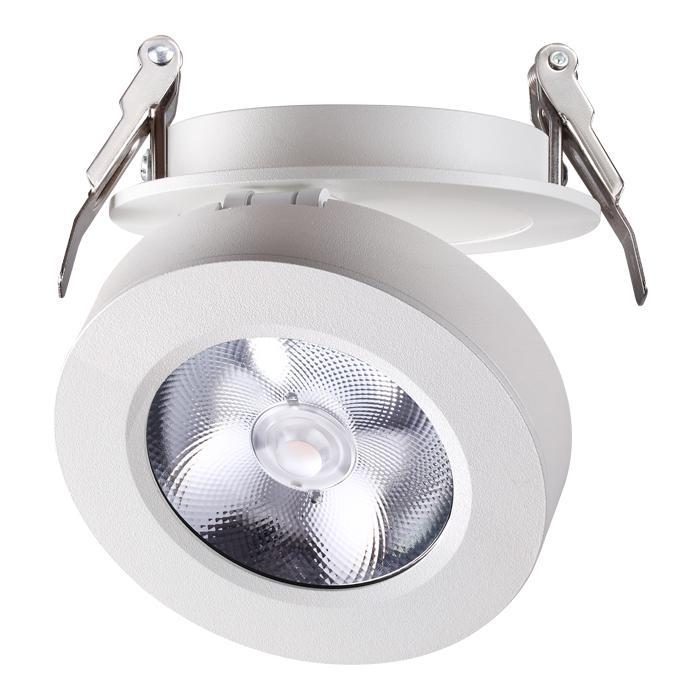 Встраиваемый светильник Novotech 357982, 12 Вт встраиваемый светодиодный светильник novotech groda 357983