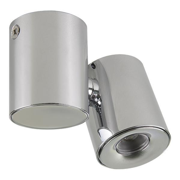 Настенно-потолочный светильник Lightstar 051134, серый металлик потолочный светодиодный светильник lightstar punto led 051134