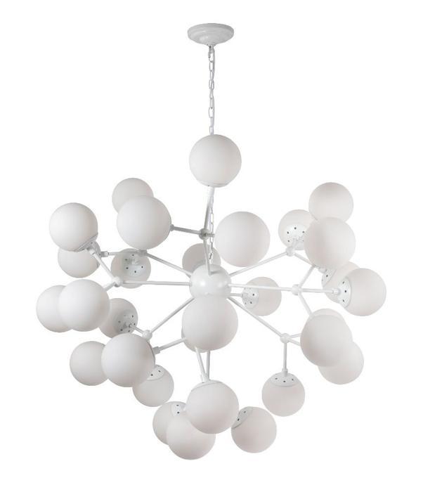 Подвесной светильник Crystal Lux MEDEA WHITE SP30, E27, 60 Вт подвесная люстра crystal lux medea sp12