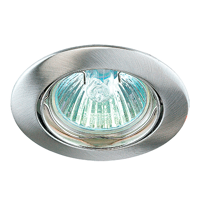 Встраиваемый светильник Novotech 369103, серебристый novotech встраиваемый светильник novotech crown 369103