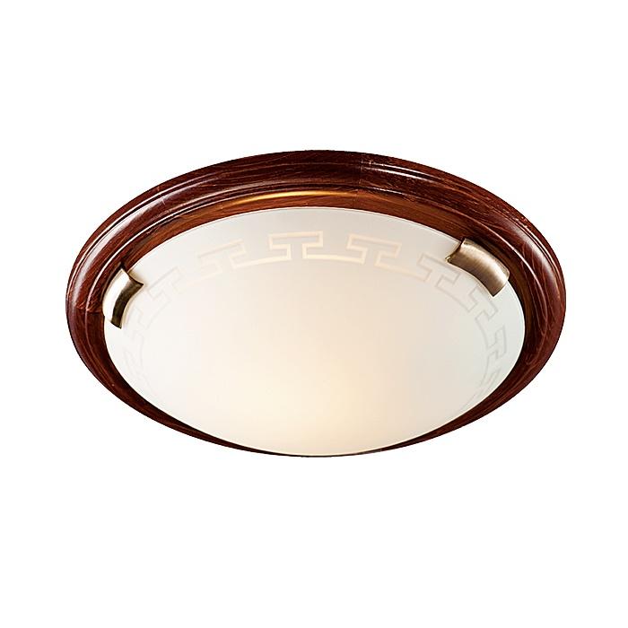 Настенно-потолочный светильник Sonex 260, коричневый накладной светильник sonex greca wood 260