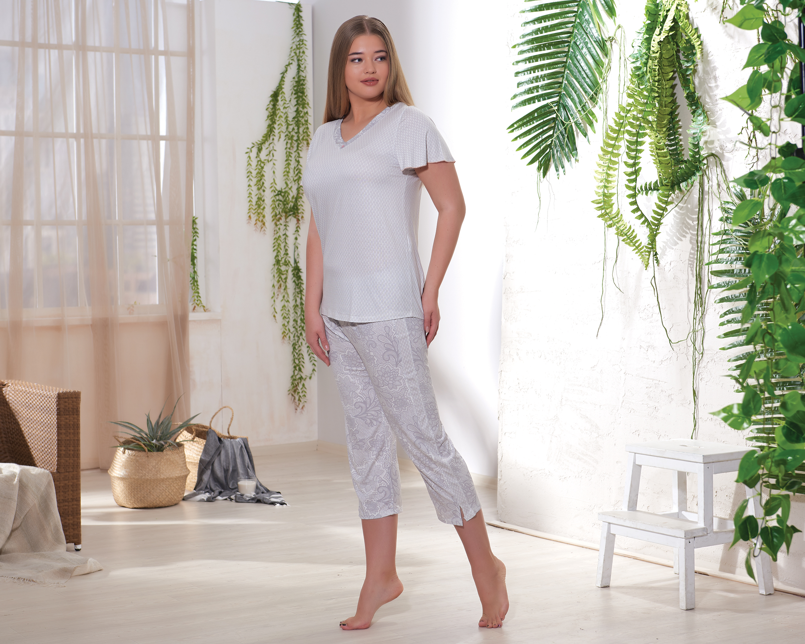 Домашний комплект Sevim домашний комплект женский sevim топ шорты цвет кремовый 10281 sv размер l 44 46