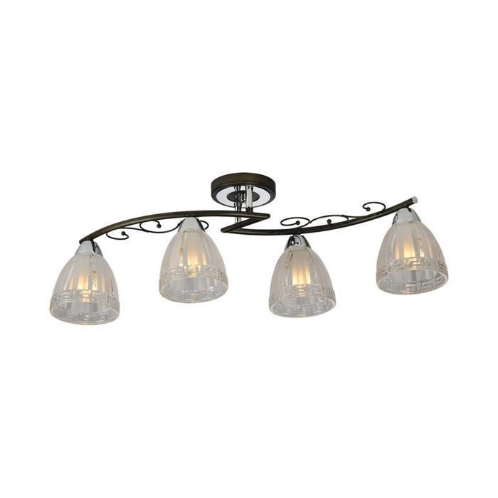 Потолочный светильник Idlamp 232/4PF-Blackchrome, серый металлик цена