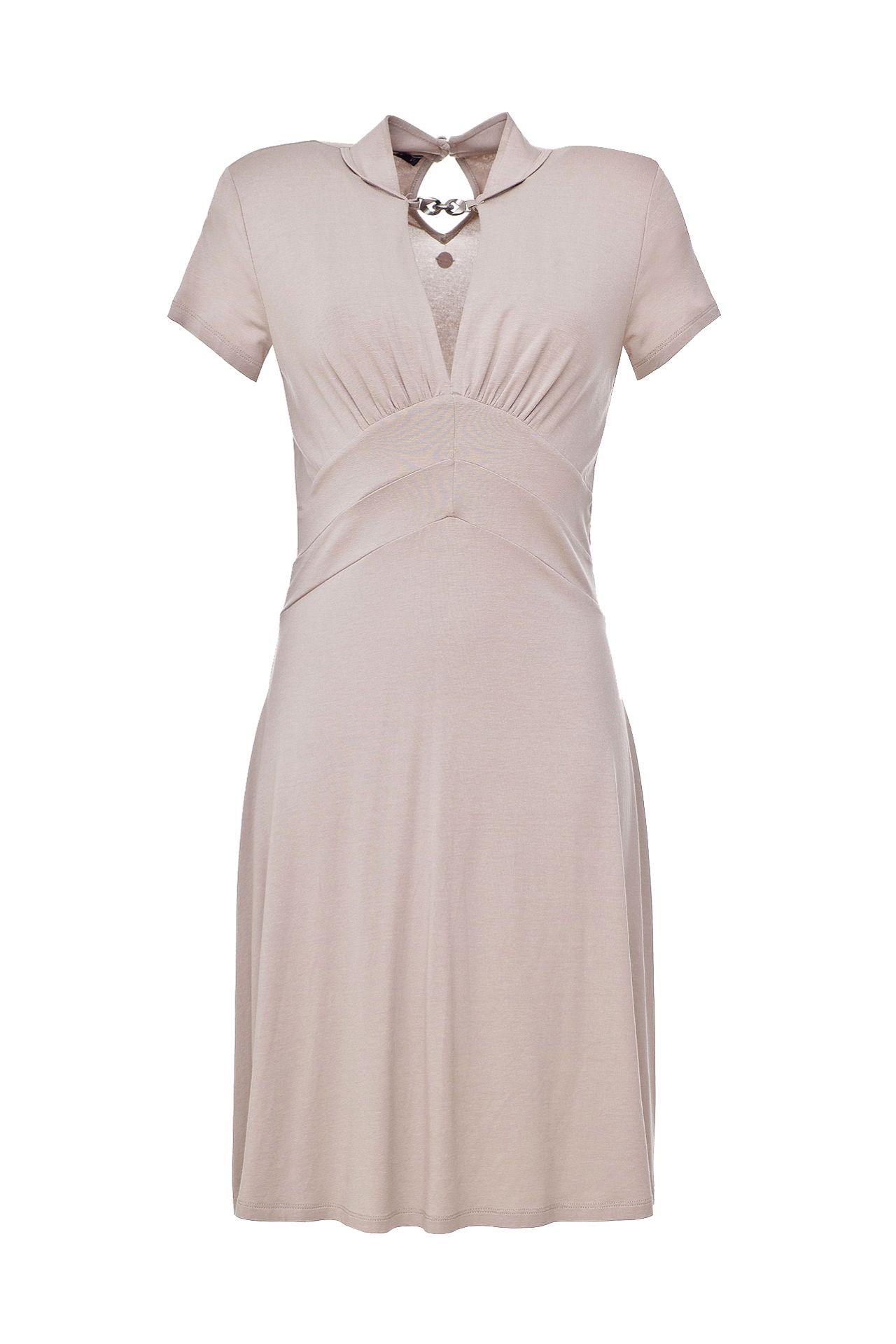 Платье TWIN-SET белый короткий рукав v шея sweep поезд русалка fishtail свадебное платье