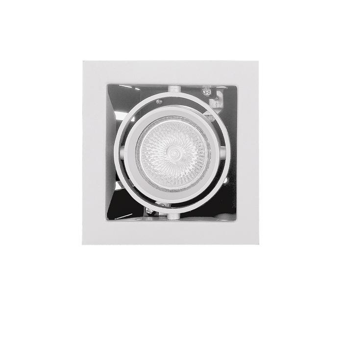 Встраиваемый светильник Lightstar 214010, белый встраиваемый спот точечный светильник lightstar cardano 16 x1 bianco 214010