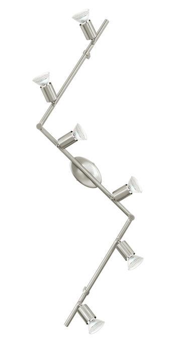 Настенно-потолочный светильник Eglo 92599, серый металлик настенно потолочный светильник eglo 95633 серый металлик