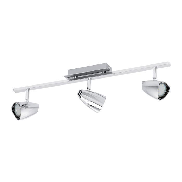Настенно-потолочный светильник Eglo 93674, серый металлик светильник спот eglo dakar 87082