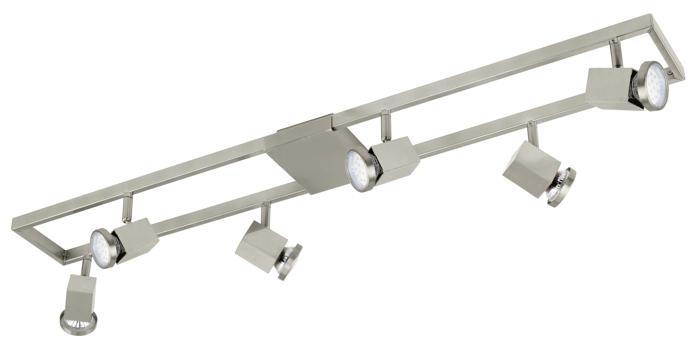 Настенно-потолочный светильник Eglo 93679, серый металлик настенно потолочный светильник eglo 95633 серый металлик