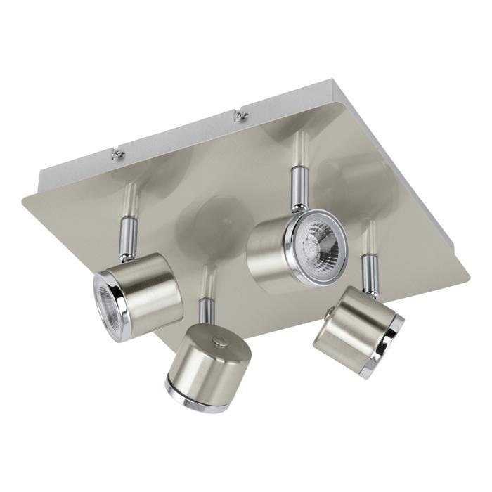 Настенно-потолочный светильник Eglo 93696, серый металлик eglo светильник спот eglo 92032