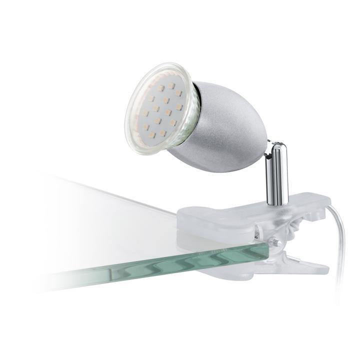 Настольный светильник Eglo 93119, серый металлик eglo настольная лампа офисная cajero