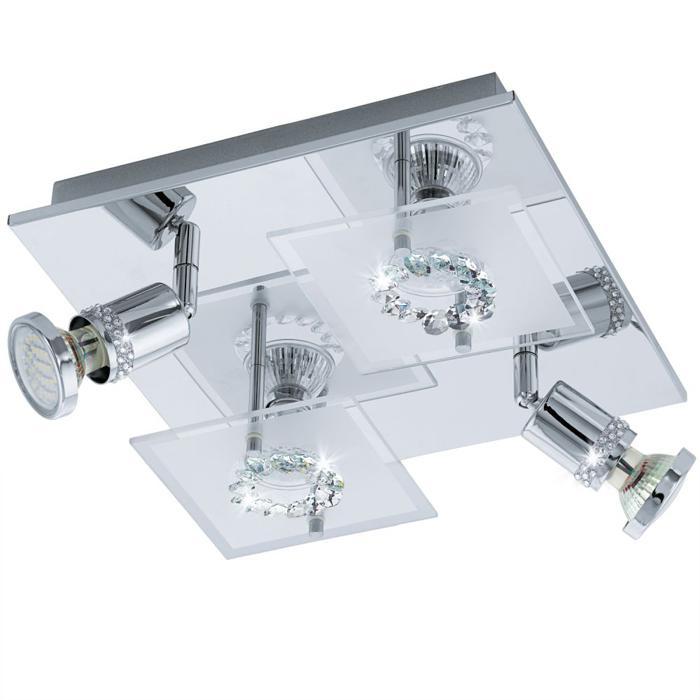 Настенно-потолочный светильник Eglo 94529, серый металлик светильник спот eglo dakar 87082