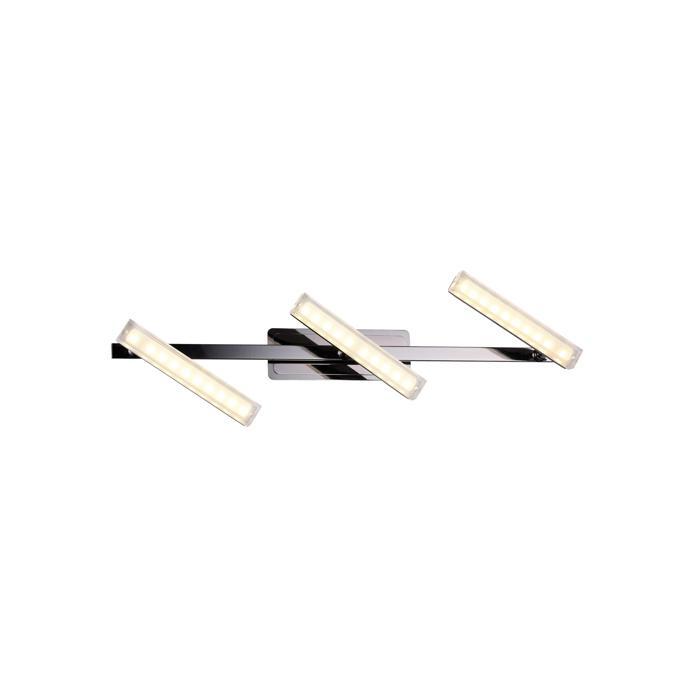 Настенно-потолочный светильник Idlamp 406/3A-Blackchrome, серый металлик настенно потолочный светильник idlamp 350 3a chrome серый металлик