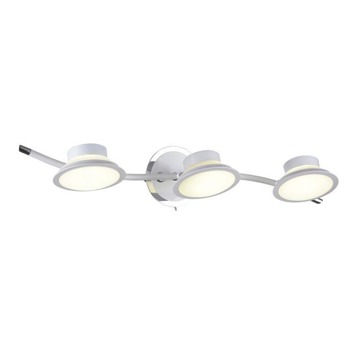 Настенно-потолочный светильник Idlamp 104/3A-LEDWhite, серый металлик настенно потолочный светильник idlamp 350 3a chrome серый металлик