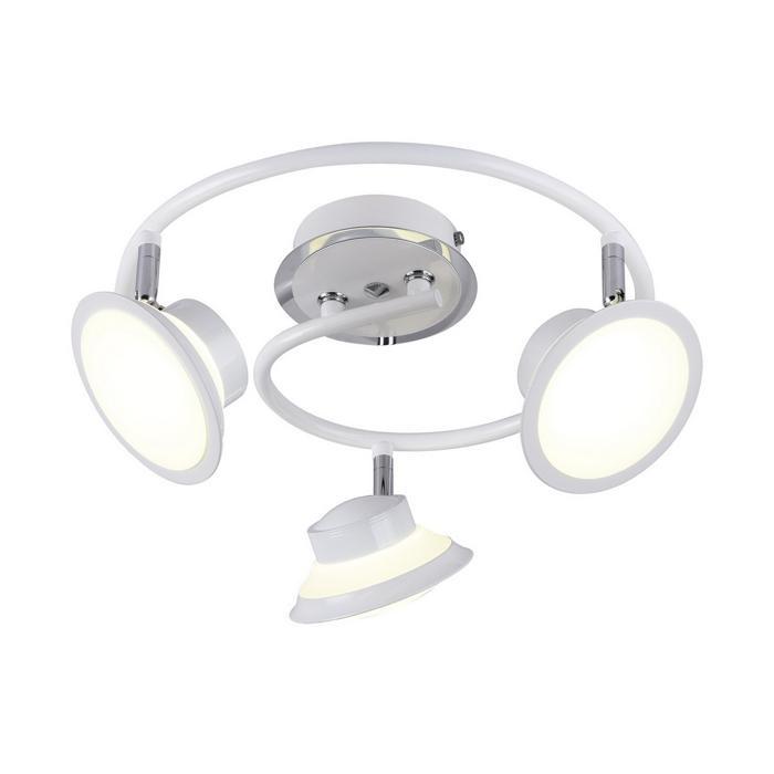 Настенно-потолочный светильник Idlamp 104/3PF-LEDWhite, серый металлик потолочный светильник idlamp 396 3pf ledwhite