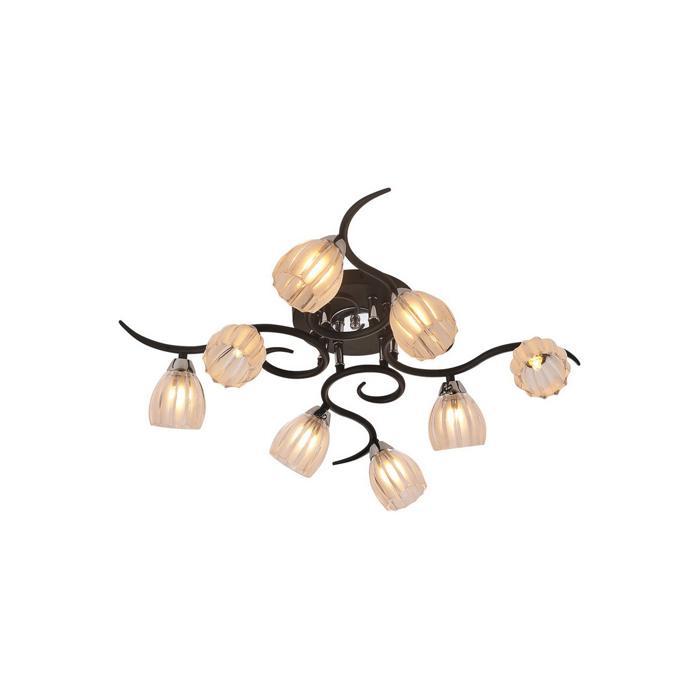 Потолочный светильник Idlamp 213/8PF-Blackchrome, серый металлик потолочная люстра idlamp 382 8pf blackchrome