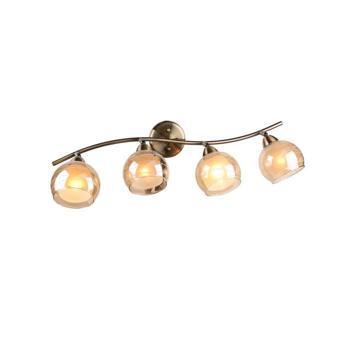 Настенно-потолочный светильник Idlamp 844/4PF-Oldbronze, бронза