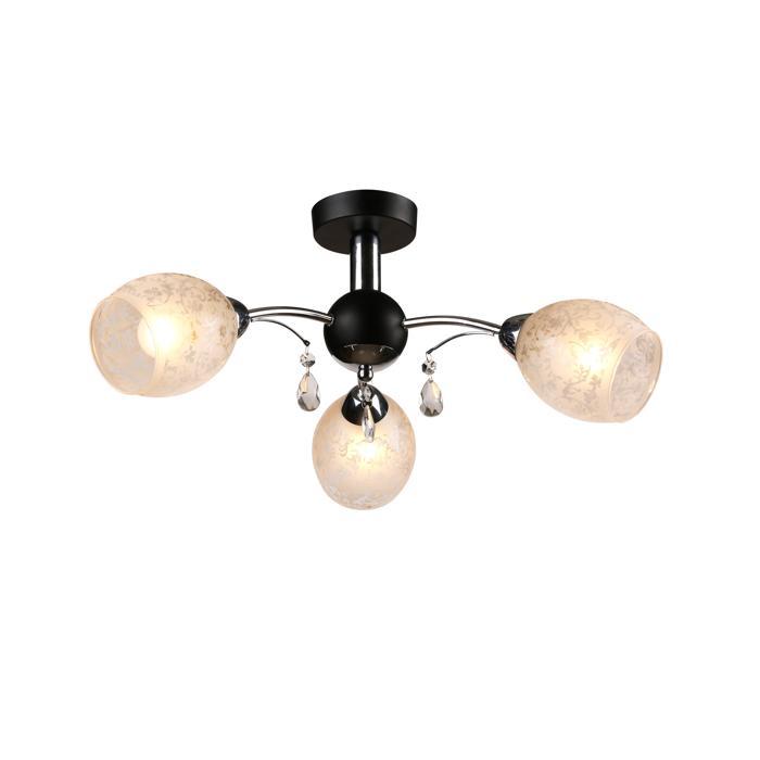 Потолочный светильник Idlamp 843/3PF-Blackchrome, серый металлик цена